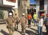Le Forze Armate in prima linea nelle zone del terremoto
