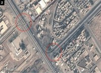 ISIS has erected barriers in the city, satellite imagery reveals. Image: Stratfor
