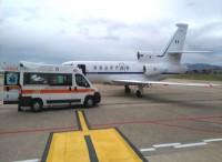 Doppio trasporto sanitariod'urgenza, grazie all'Aeronautica Militare