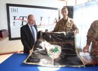 Visita del ministro Sarraf, alla Missione Militare Bilaterale Italiana in Libano