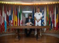 Il sottosegretario alla Difesa Tofalo al COI (Comando operativo vertice Interforze)