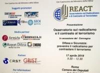 Difesa e Sicurezza: è nato ''ReaCt'', Osservatorio sul radicalismo e il contrasto al terrorismo