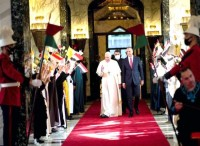 The beginning of Pope Francis's trip