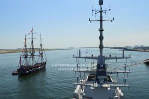 Storico incontro tra nave Alpino e la U.S.S. Constitution a Boston