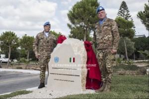 Cippo in memoria dei peacekeeper italiani caduti in Libano