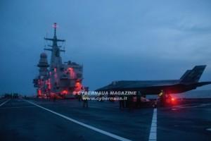 Prove in mare per la certificazione della portaerei Cavour all'impiego degli F-35B